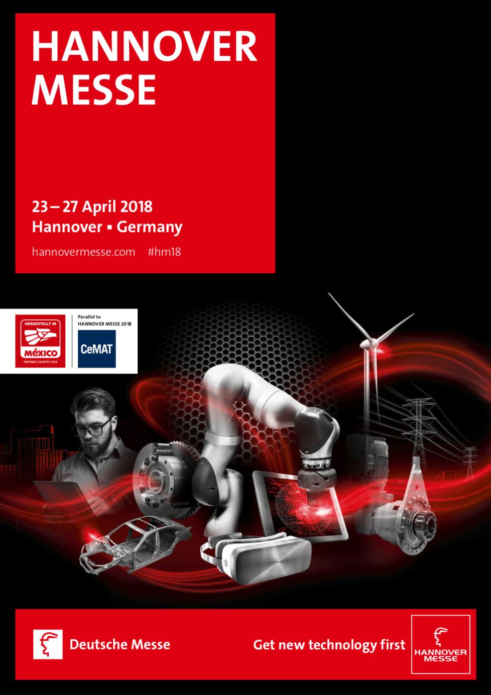 Hannover Messe 2018 kiállítás brossúra borító