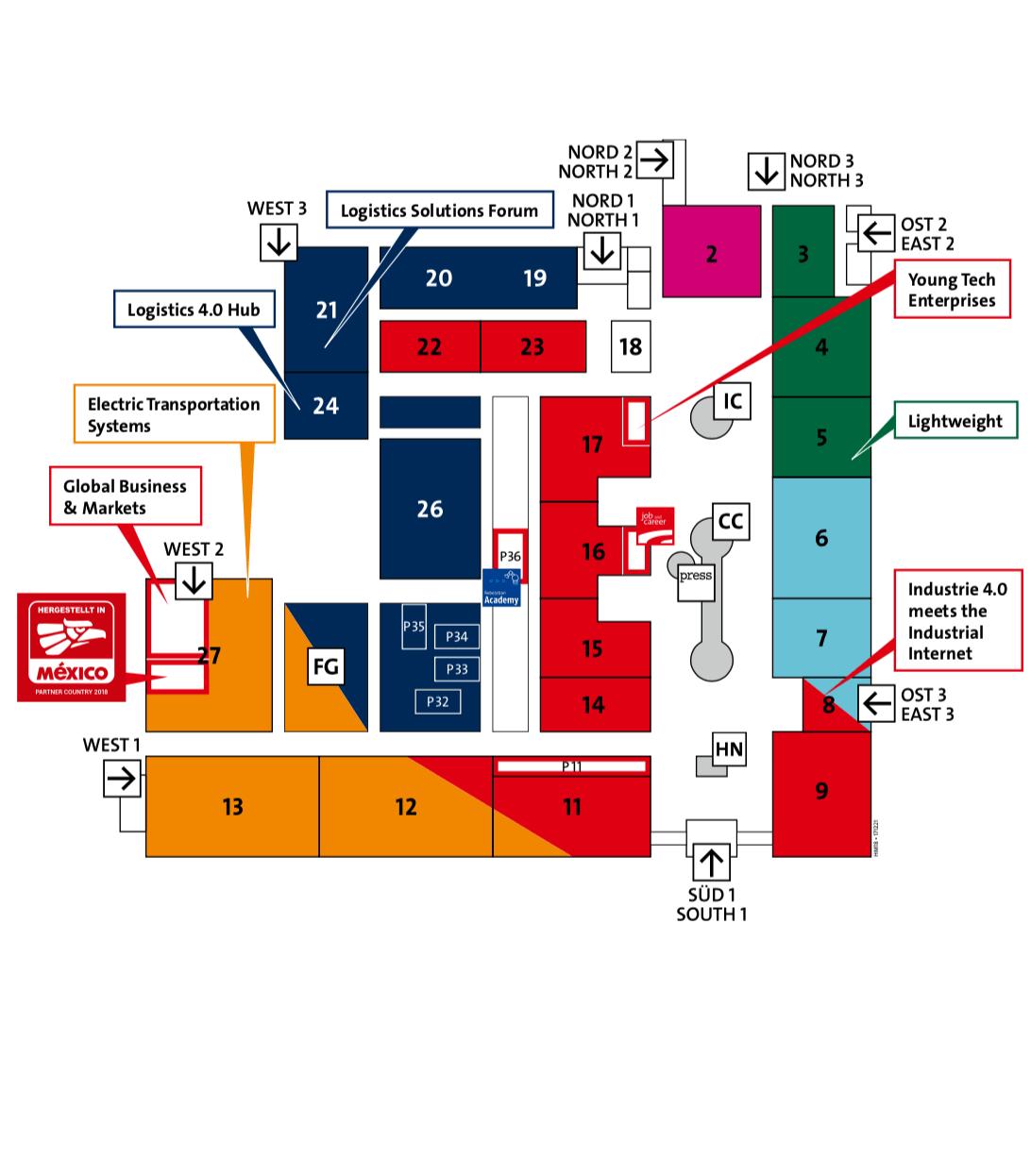 Kiállítás térkép borító - Hannover Messe 2018