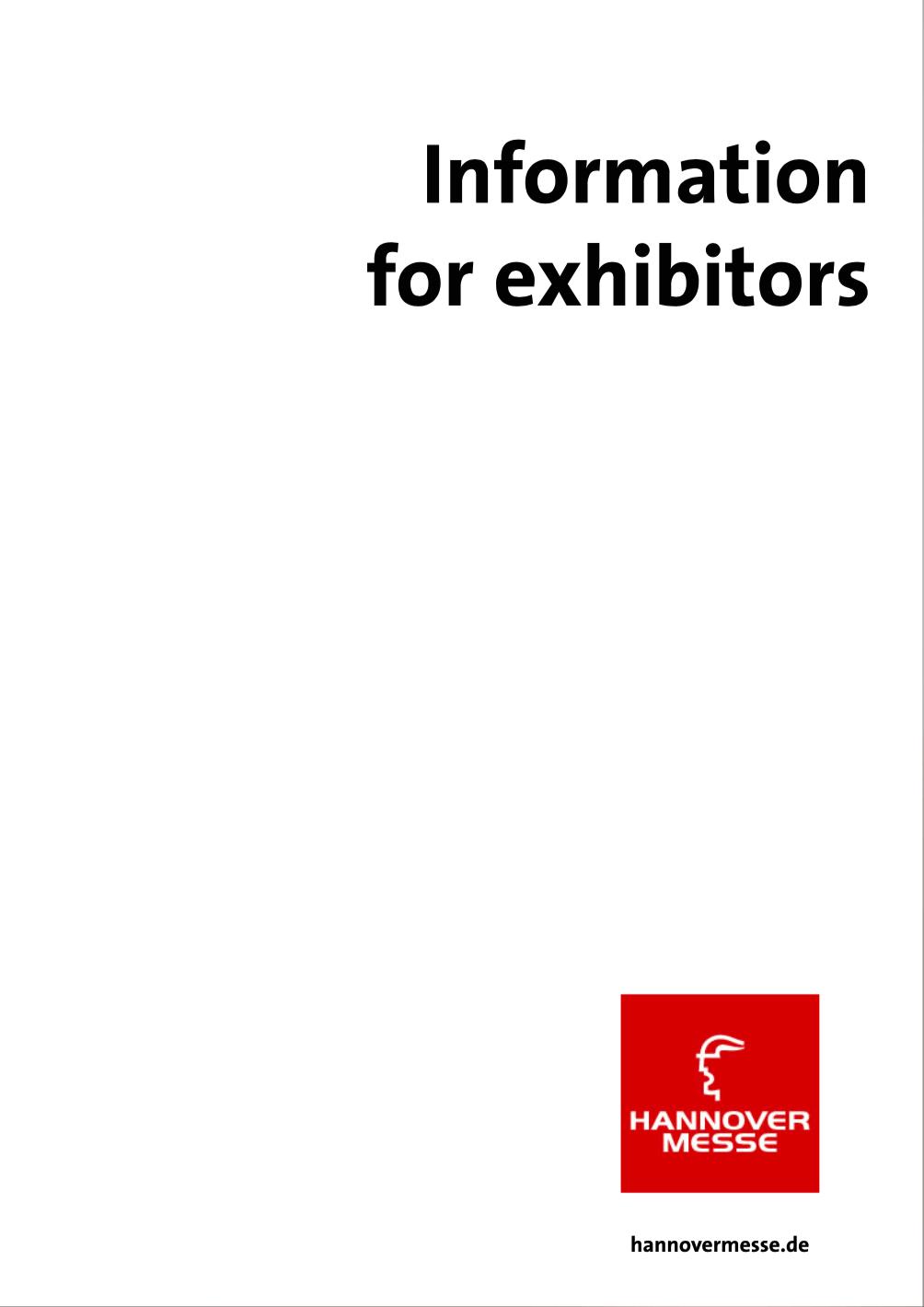Hannover Messe 2018 kiállítói információk borító